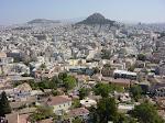 El monte Likabitos desde la Akrópolis