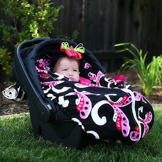 Protect Your Baby From Chilly Weather With A Snuggle Mez Infant Car Seat Snuggler The Cover Is Easy To Use Available In Great Prints For Girls And