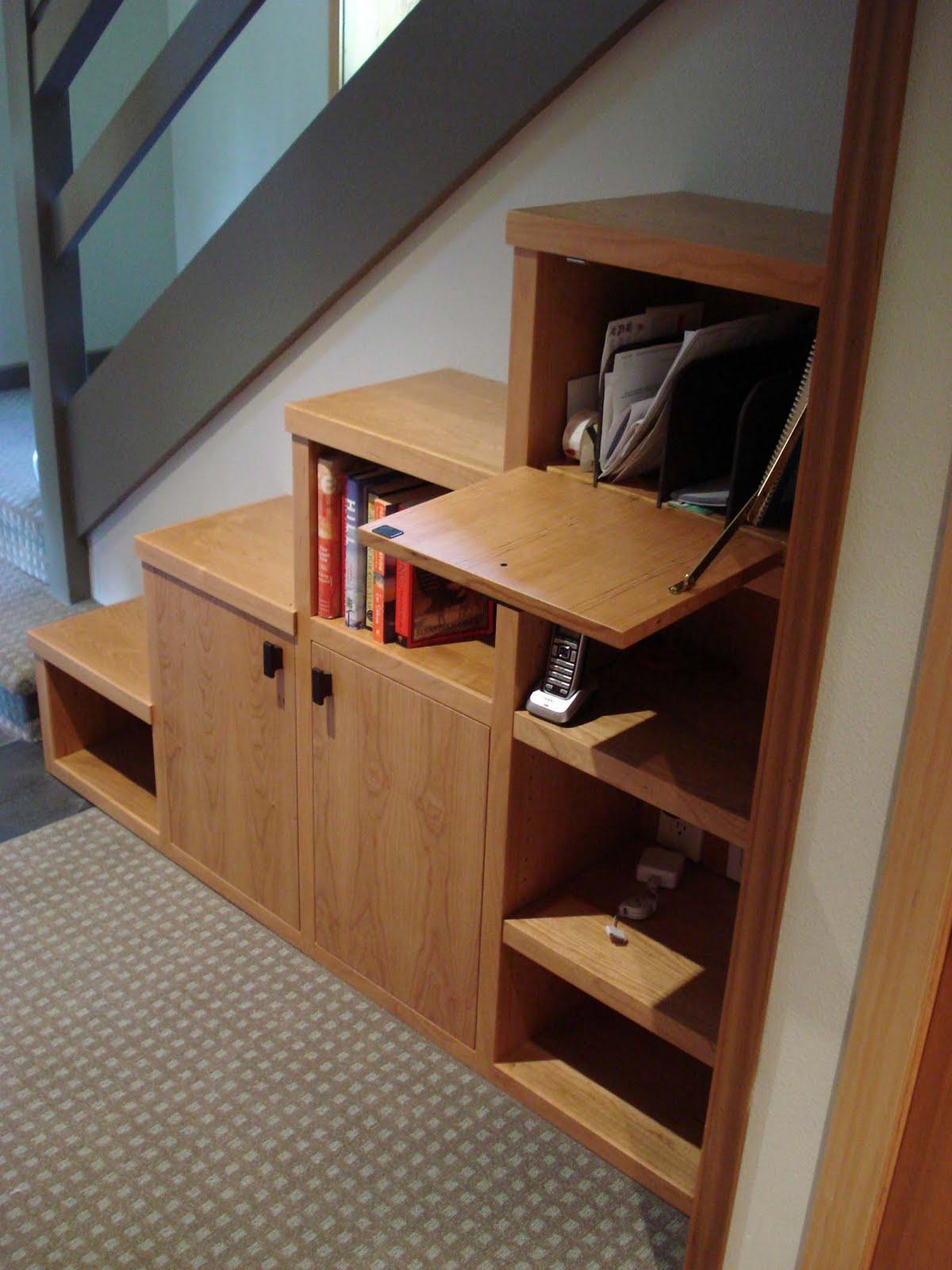 Hardwood design august 2010 - Cabinet design under stairs ...