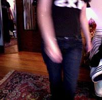 dancing, MS jeans