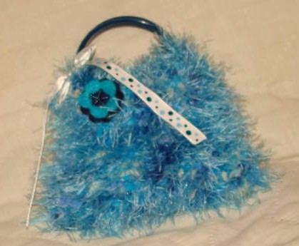 Blueberry Childs Knitted Bangle Purse $5.00