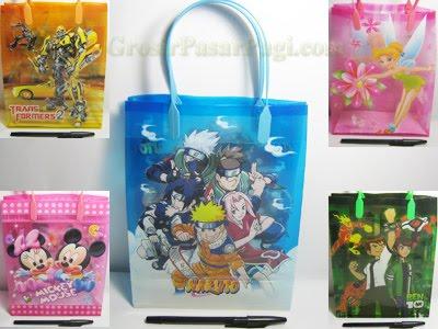 Gift Bag Transparan Tali Plastik  Rp.3.500/pcs