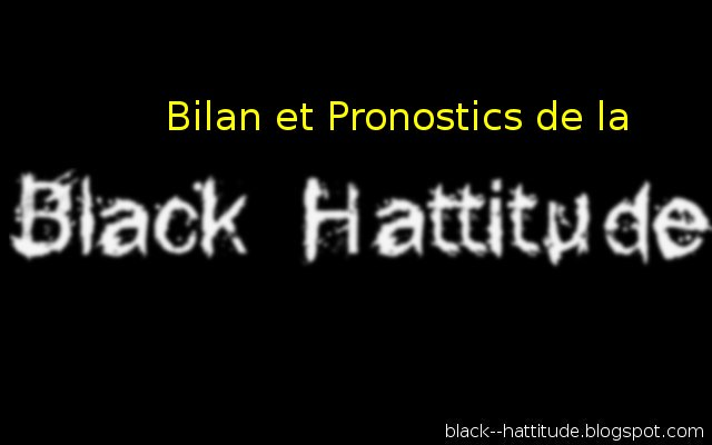 Assessment and prognosis of black man hattitude