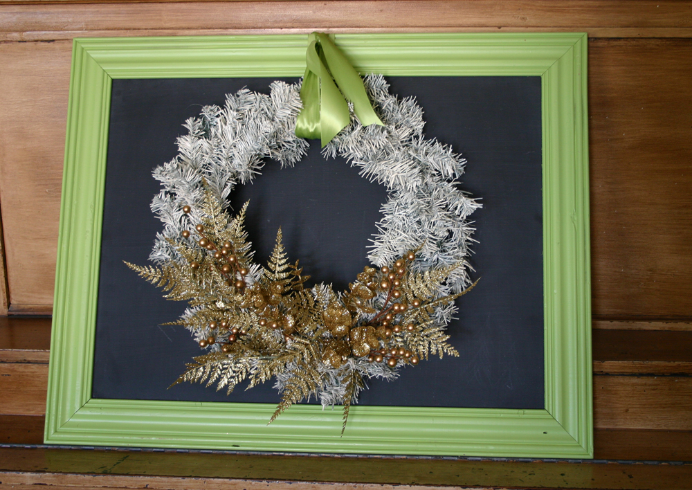 Spray Painting A Fake Green Wreath
