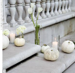 stairs white pumpkin