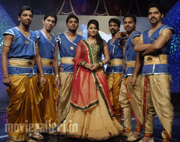 Sneha at Vijay TV Azhagiya Tamizh Magan
