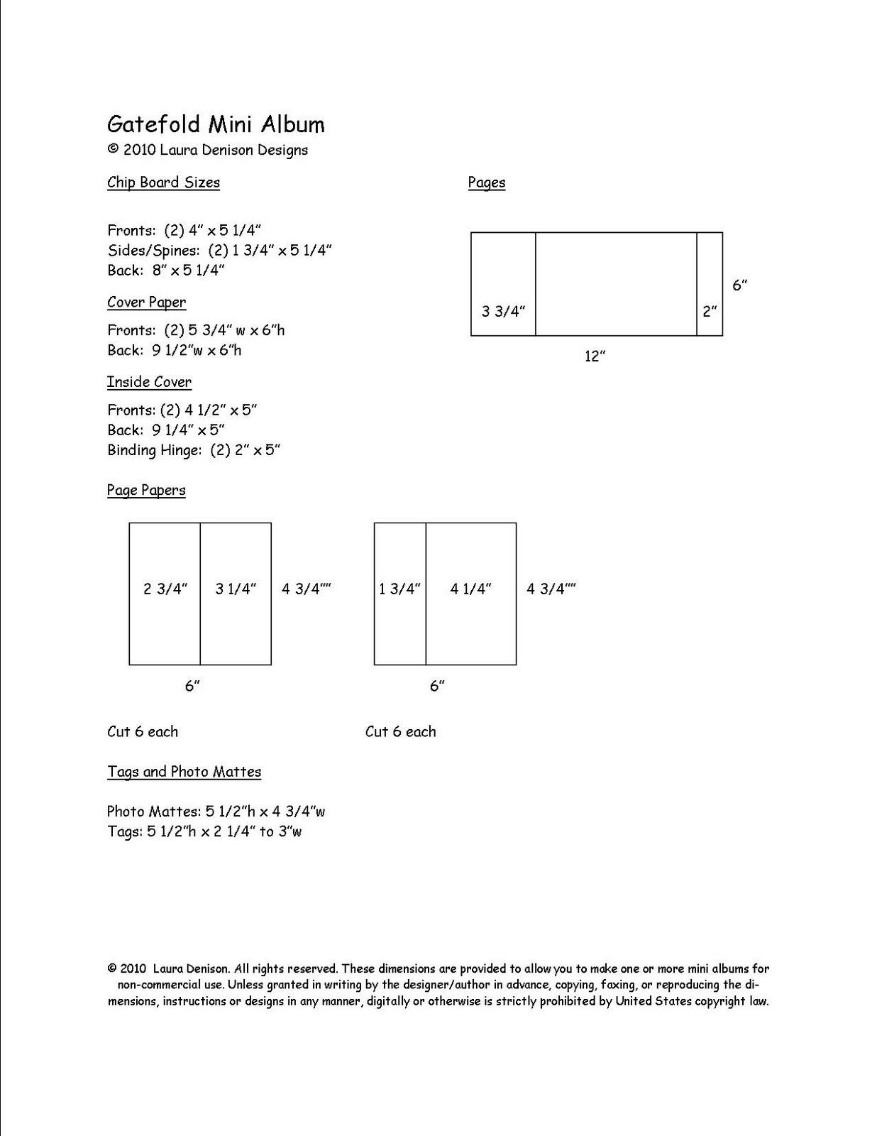 Mini Four Dimensions : gatefold mini dimensions laura denison designs ~ Premium-room.com Idées de Décoration