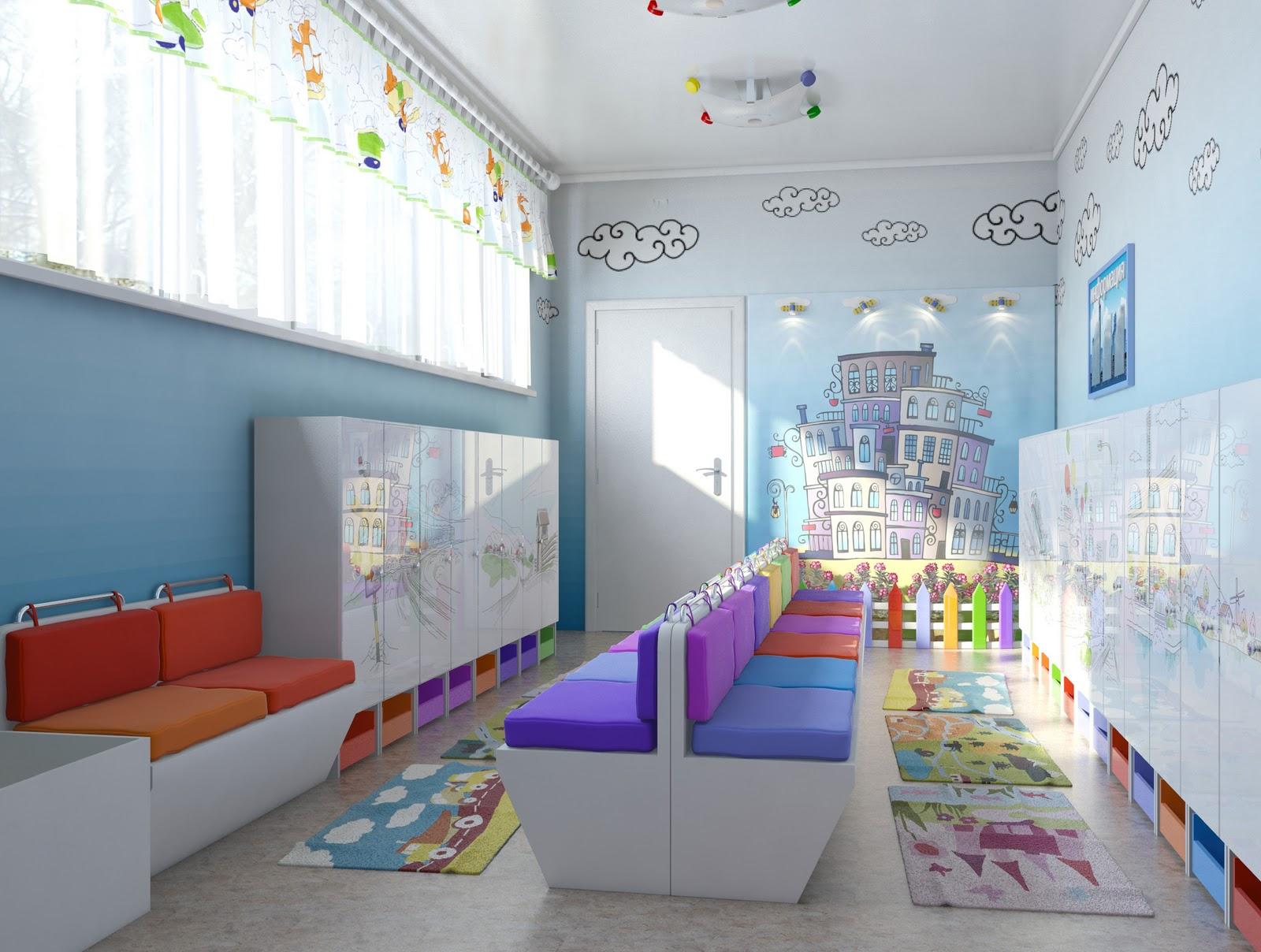 Фото раздевалки в детском саду дизайн