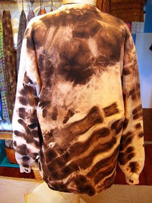 Bleach discharged black t-shirt