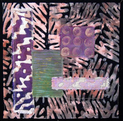 Mindscape, small textile painting