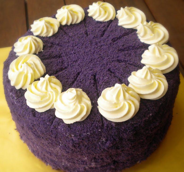 Yam Chiffon Cake