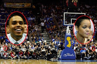 Rihanna e Chris Brown alle finali NBA