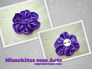 broche em flor de tecido