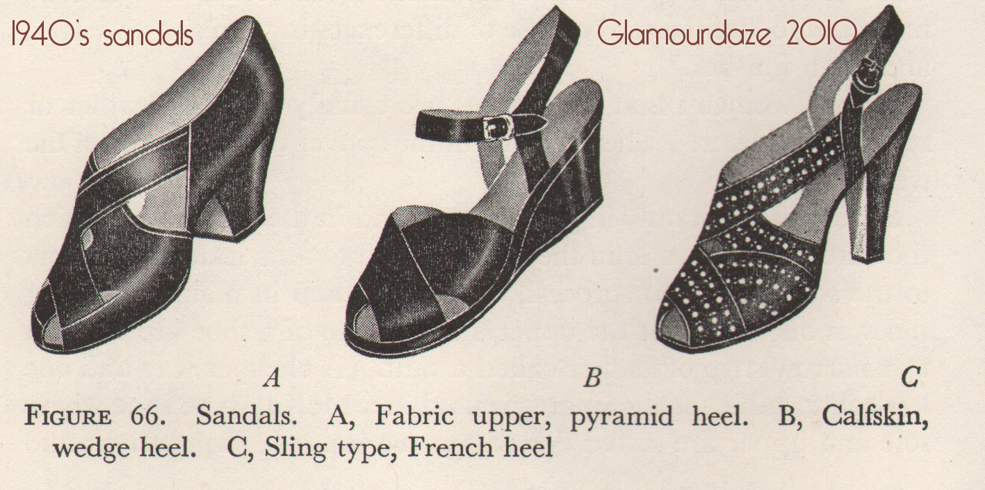 Elegant Growing Collection Of Shoes From The Forties Click On Any Photo For