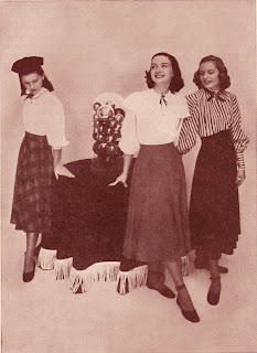 Skirts and Blouses in the 1940s