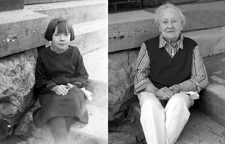 おばあちゃんの1920年と2010年比...