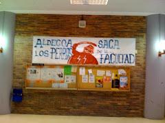 Cartel denuncia contra la presencia de la policía en la Facultad de C.C Políticas y Sociología