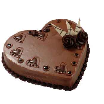 Heart Shaped Cake - Black Forest