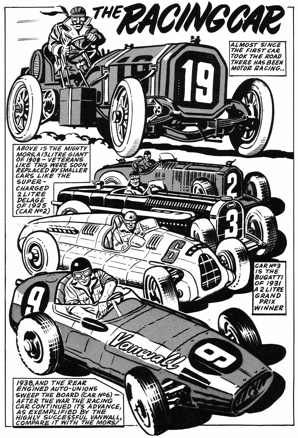 British Comic Art The Racing Car