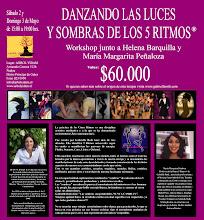 CHILE: Taller DANZANDO LAS LUCES Y SOMBRAS de LOS 5 RITMOS®: Sab 2 y Dom 3 de Mayo, 2009, 15 a 19hs