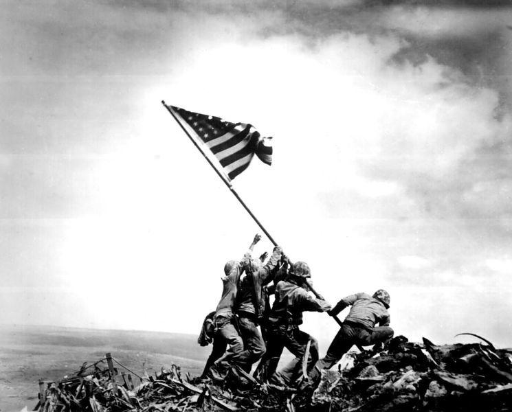 68th Anniversary of Operation Overlord. Iwo_jima_flag_raising