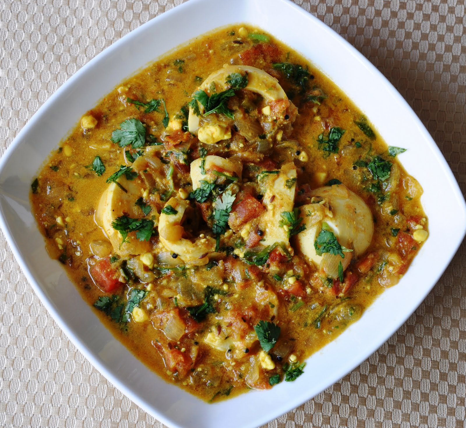 Dhaniya Anda Curry... Inspired by my Hubby (Egg Curry cooked in a ...