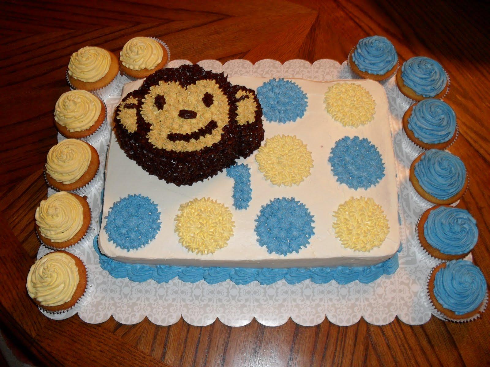 Brandis Sweets Mod Monkey Themed Birthday Cake