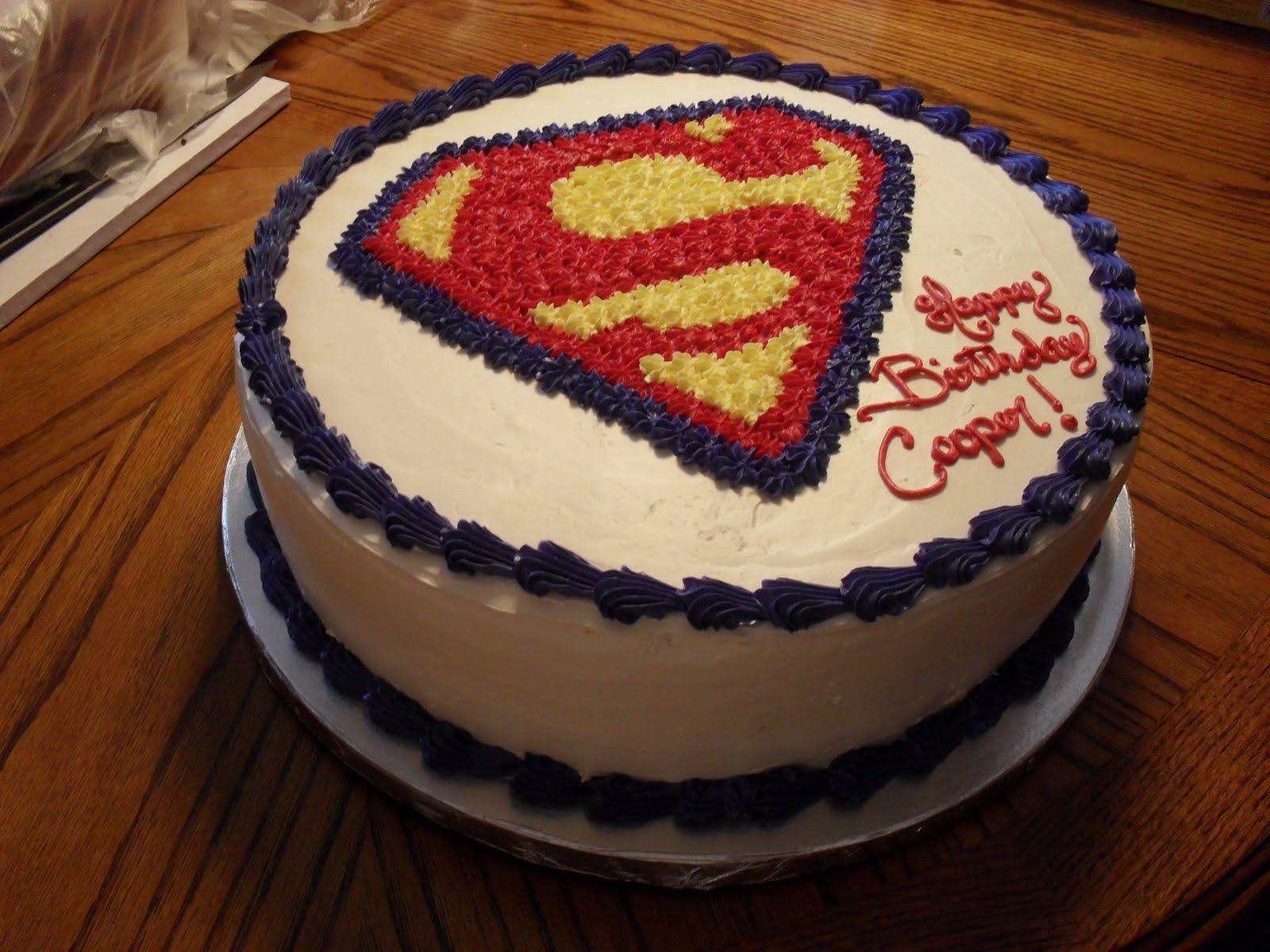 Brandis Sweets Superman Birthday Cake