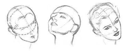 Head Tilted Back Drawing For Drawing The Outline of