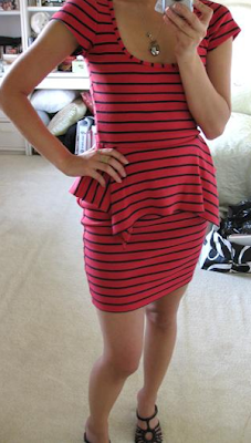 Red dress 80s leg