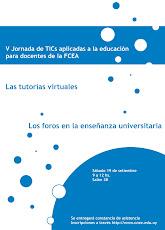 Afiche V Jornada de TICs aplicadas a la educación para docentes de la FCEA