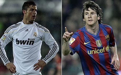 lionel messi vs ronaldo. in the Lionel Messi vs