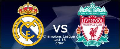 Liverpool will be Real Madrid's opponent in the Last 16 round of the Champions League. The first leg will be held at the Santiago Bernabéu Stadium on 25 February. The second match will take place in Anfield on 10 March.  One of the most interesting pairings of the Last 16 is that of Real Madrid and Liverpool, two of the greatest teams in Europe.  Real Madrid Sporting Director Pedja Mijatovic said the team