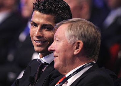 Cristiano Ronaldo with Alex ferguson