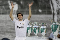 Kaka will never forget his first day at Real Madrid. He was presented before 55,000 fans at the Bernabeu. Realmadrid.com now gives you the chance to relive the Brazilian's magical first day as a Madridista. Here is the photos of that magical presentation