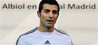 Raul Albiol's Presentation Photos at Santiago Barnabeu