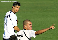 Cristiano Ronaldo's first training with Real Madrid Photos