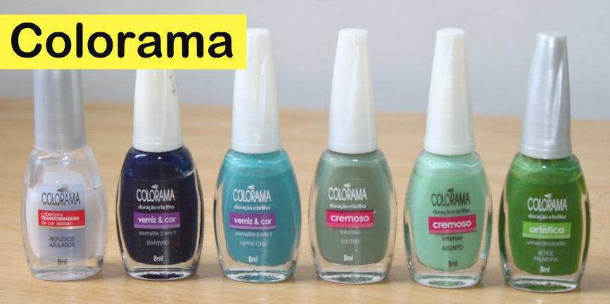 Mini cole o de esmaltes verdes e azuis blog oxente menina - Colores verdes azulados ...