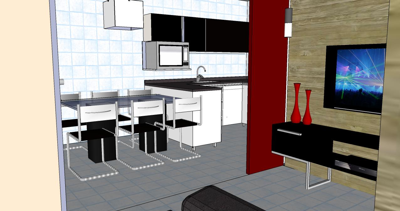Wibamp Com Cozinha Americana Com Sala De Tv Id Ias Do Projeto Da