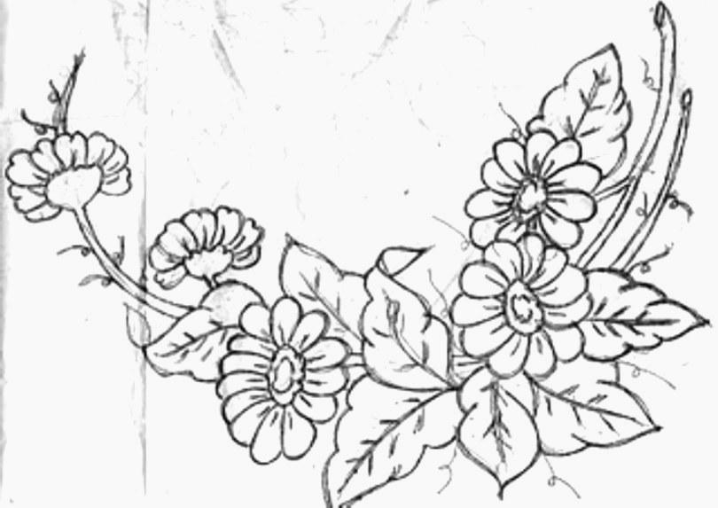 Dise os flores para pintar en tela imagui - Disenos para pintar ...