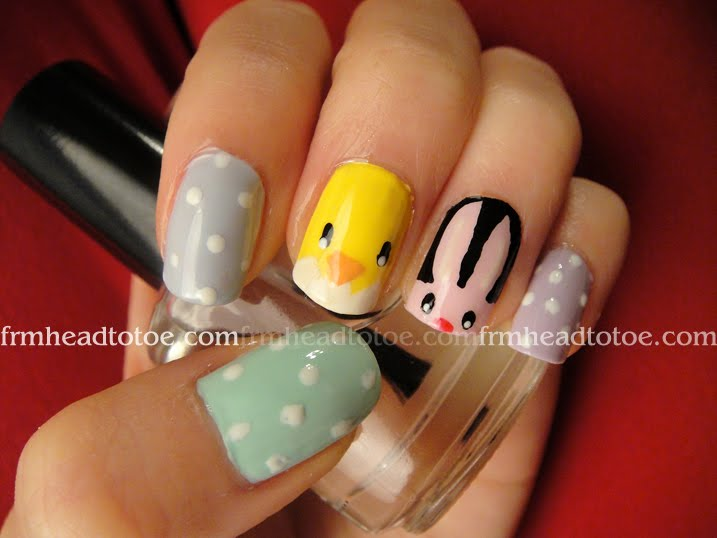Happy easter easter themed nail art tutorial from head to toe happy easter easter themed nail art tutorial prinsesfo Choice Image