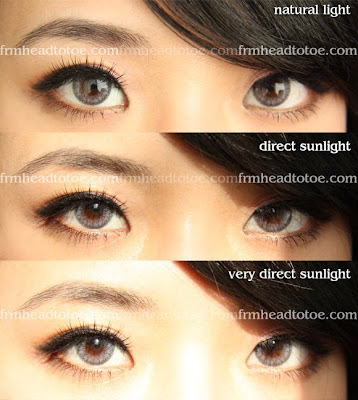 Adore Bi Tone Grey Colored Contact Lens Review From Head