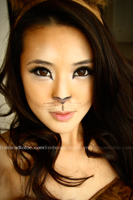 Lion Halloween Makeup Tutorial =^^=  From Head To Toe - Pretty Cat Halloween Makeup
