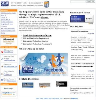 SADA new website