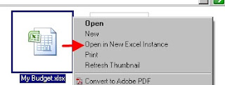 Open in New Excel Instance