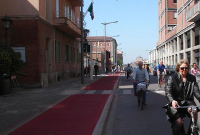 Bike Lane in Ferrara, Italy