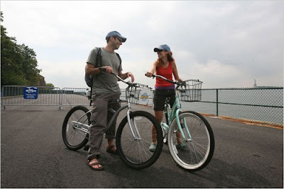 Cyclists on Governors Island by Hiroko Misuiki / NY Times