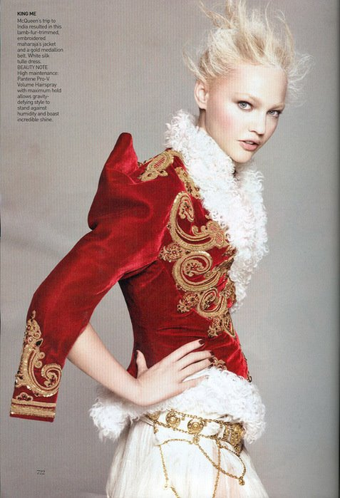 Sasha Pivovarova by David Sims, Vogue