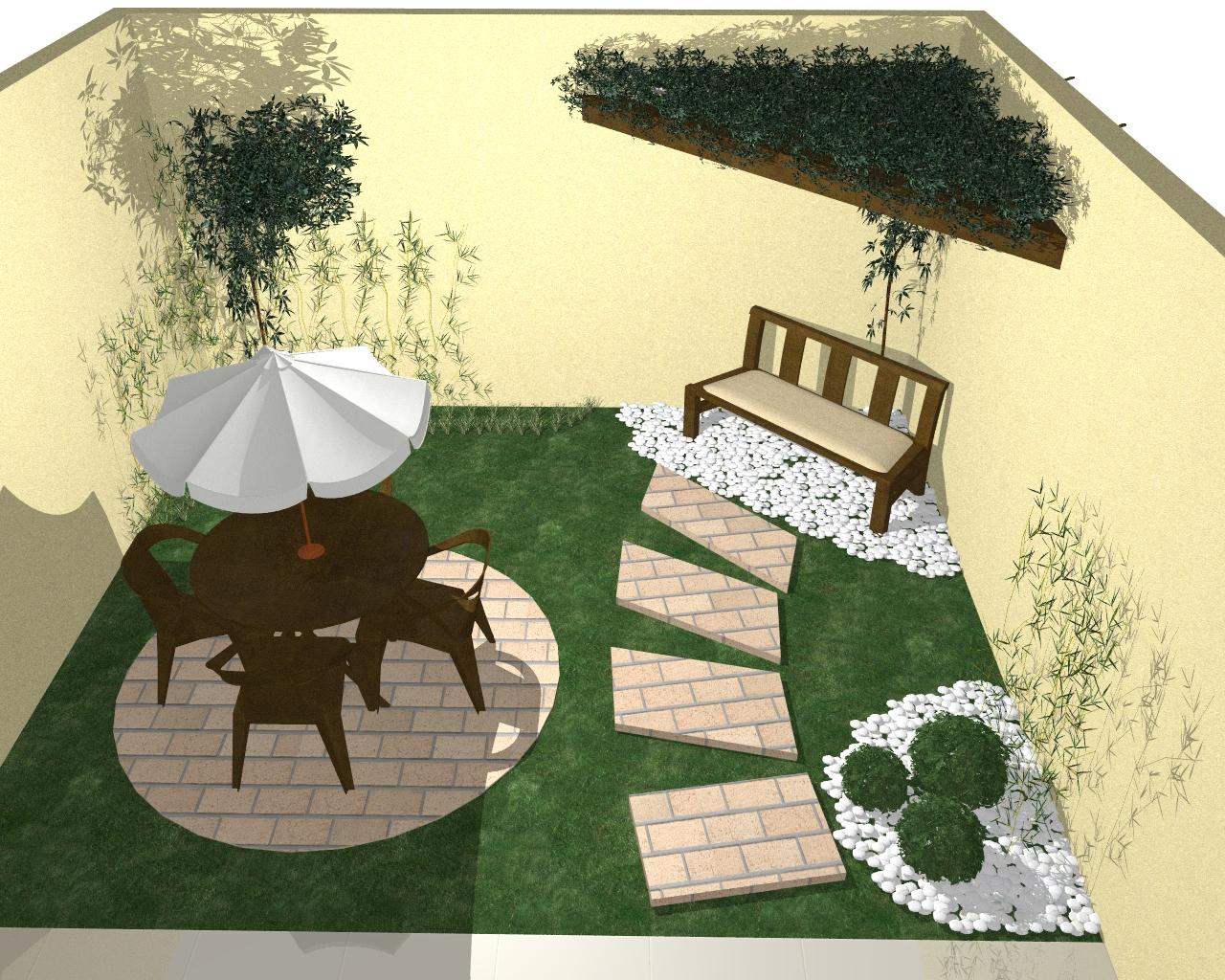 fotos jardins pequenos residenciais: um espaço pequeno que manteve a graça e a beleza do paisagismo