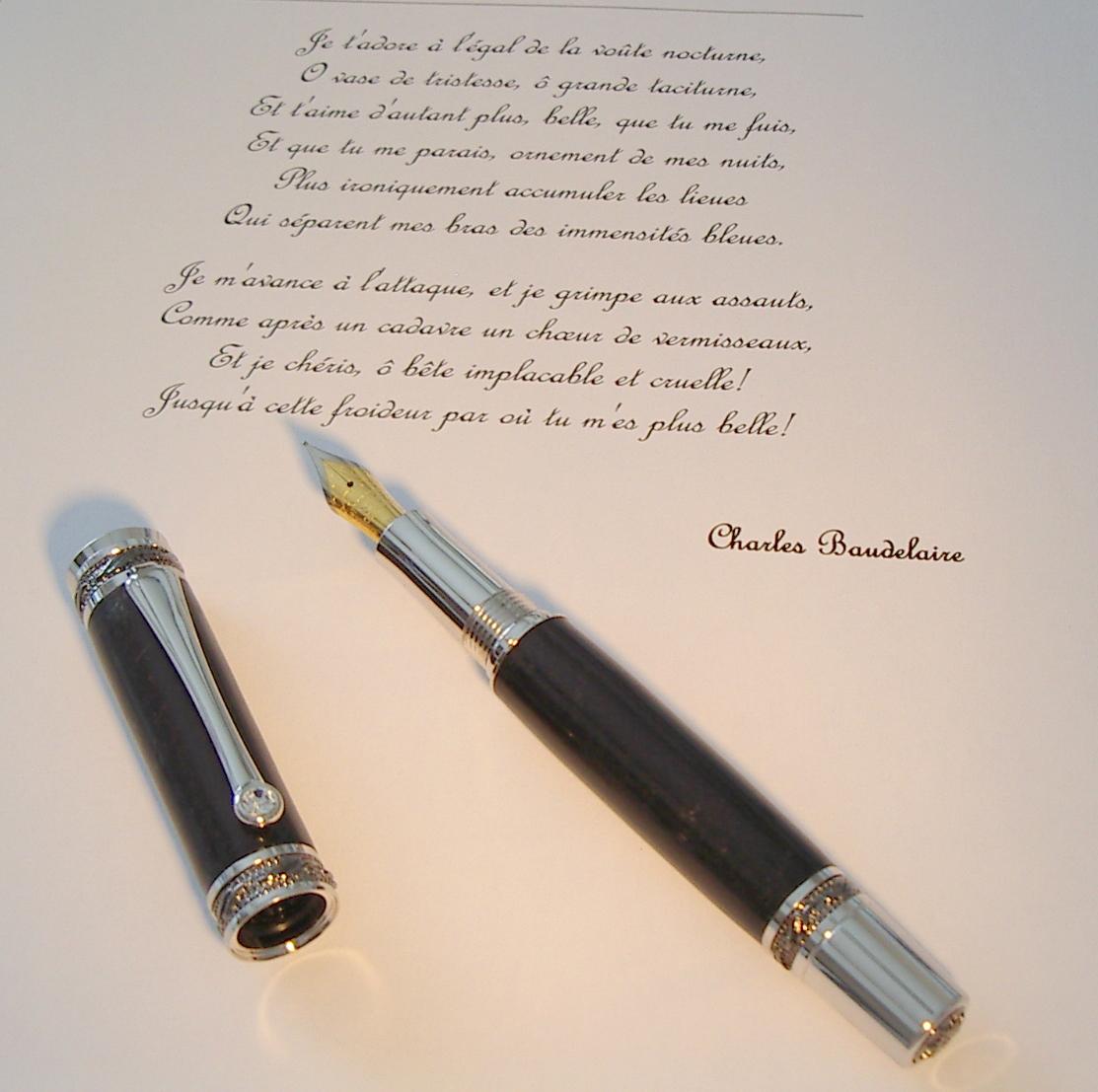 bois de plume stylo plume en ébè